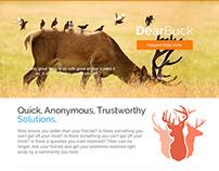 Dear Buck Landing Page