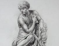 Chalk drawing (black) A3 ,Kamil Strzelecki