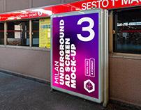 Milan Underground Ad Screen Mock-Ups 2