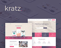 Kratz - Digital Agency WordPress Theme!