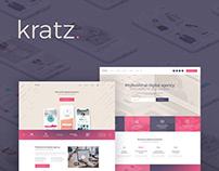 Kratz - Digital Agency WordPress Theme!