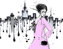 Fashion illustration for Sovacity company.