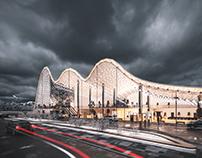 """ArchViz/Concept architecture. """"Airport in Carpathian Mo"""