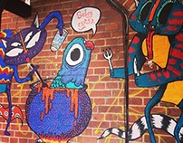 Pissu Poosa   Kater Blau - Berlin Mural