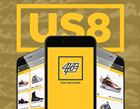US8 Sneaker App Design