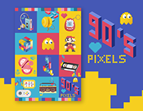 90's PIXELS - posters
