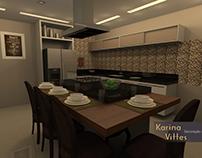 Cozinha em tons de marrom