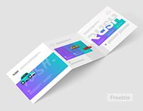 Square Trifold Brochure Mockups Z-Fold (Freebie)