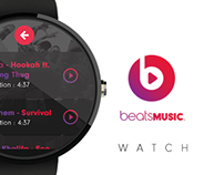 Beats Music Watch App Concept Design