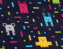Blocky Animals Pattern