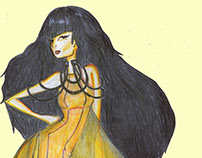 Fashion Illustration Monochromatic Studies