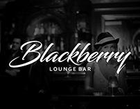 Calligraphy Logo Design for Blackberry Lounge Bar