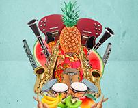 Afiche Madera Jazz