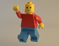 Lego man vs V-ray