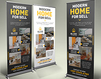 Real-Estate Roll Up Banner