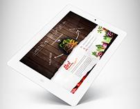 Restaurant Diner Web Design Concept