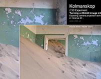 Kolmanskop /turning a 2D still image (photo) into 3D