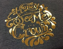 Hand Lettered Screen Printing