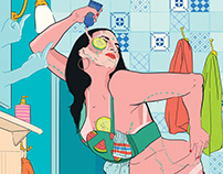 RedBull online magazine illustrations