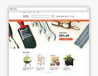 Hardware E-commerce Website Redesign