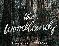 THE WOODLANDS - FREE FONT