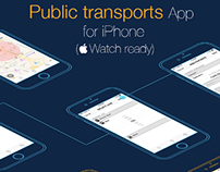 Wireframes & Interaction flux: Public Transports App