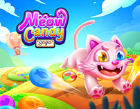 Meow Candy Saga - Match 3 game