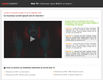 Webdesign - Application WebTV