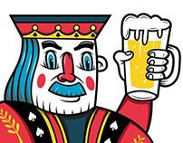 """illustration """"King Of Beer"""""""