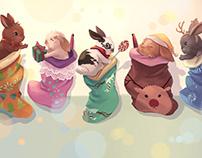 Christmas Bunnies 2017