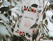 Wedding invite ♥ Nin & Lin