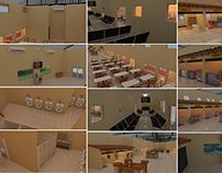 Interiores de Centro Comercial
