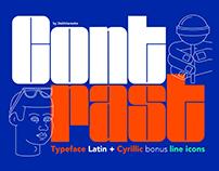 CONTRAST Typeface Latin+Cyrillic