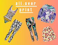 All over apparel prints. Artist Threads
