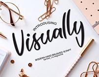 Free Visually Script Font