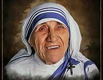Mother Teresa - Digital Painting