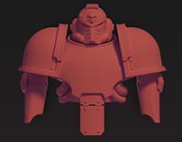 Space Marine «Mark IV» helmet