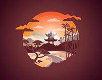 Japan Landscape Badges
