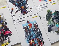 Diseño e ilustraciones de portadas —Guías Mirlo I