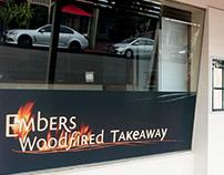 Embers Restaurant BRANDING, signage & photographic