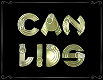Typographic Project: Font made of 'Can Lids'
