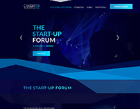 "Site ""The Start-Up Forum Almaty"" Макет"