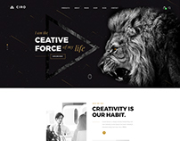 Home Page for Digital Agency