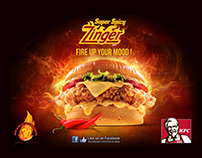 KFC - Double Zinger Burger // Commercial Game Interface