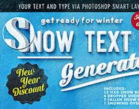 50% Off Snow Text Generator