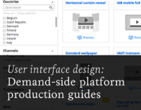 Demand-side platform production guides