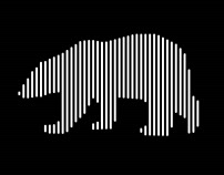 Digital Line Art - (Polar Bear)