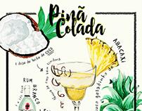 Drink Ilustrado #3 | Pinã Colada