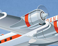 Super Constellation Retro Aircraft Poster