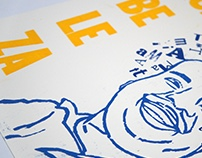 Tim Maia Poster - Letterpress Printing | Xilogravura